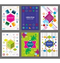 Abstract geometric banners posters flyers vector image