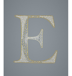 Abstract golden letter E vector