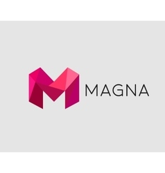Abstract trend polygon letter M logo design vector
