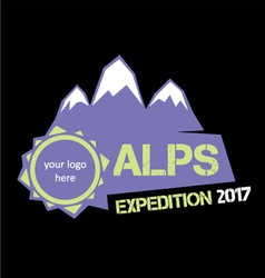 Alps expedition vector