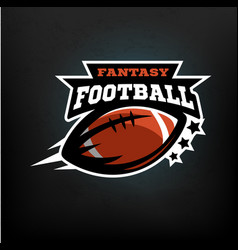 American football fantasy vector