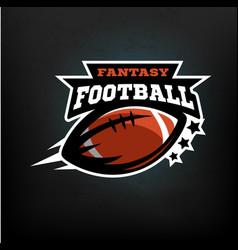 american football fantasy vector image vector image