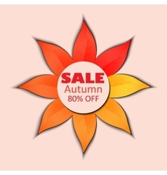 Autumn sale banner vector