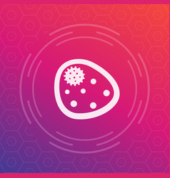 Bacterium microbe icon microbiology pictograph vector