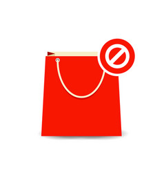 Bag buy clear paper shopping icon vector