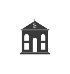 bank building icon - government - financial vector image