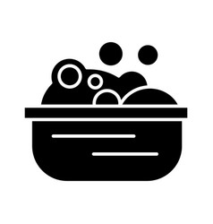 basin with soap foam icon vector image