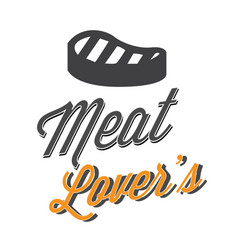 Bbq meat lovers image vector