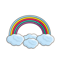 Beautiful rainbow cartoon vector