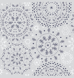 beautiful snowflakes seamless vector image