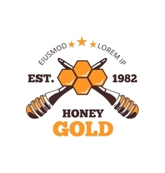 Beekeeper honey emblem logo vector image