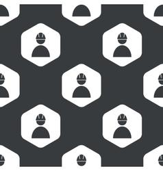 Black hexagon builder pattern vector