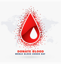 Blood drop donor day concept design vector