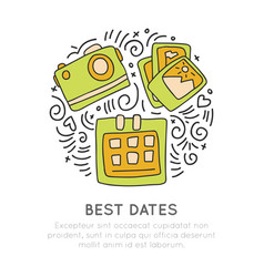 Booking in best days traveling icon photo camera vector