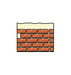 Bricks wall icon vector