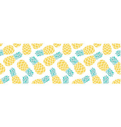 cartoon pineapple on a white background vector image