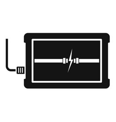 charging device icon simple style vector image