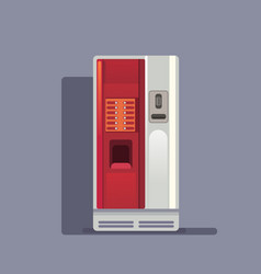 Coffee vending machine realistic on grey vector