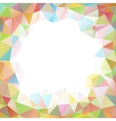 colorful square polygon background or frame vector image