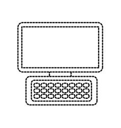 Computer keyboard device modern technology vector