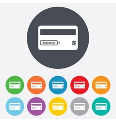 Credit card sign icon Debit card symbol vector