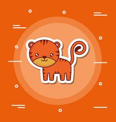 Cute tiger icon image vector
