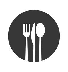 cutlery menu food design vector image