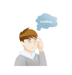 Depression symptoms trouble concentrating vector