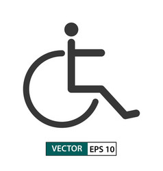 disability icon isolated on white eps 10 vector image