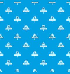 Dreamcatcher pattern seamless blue vector