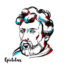 Epictetus portrait vector