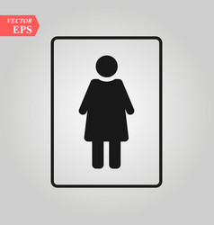 female icon woman toilet icon sex vector image