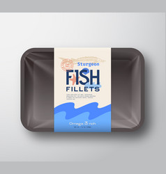 Fish fillets pack abstract plastic vector