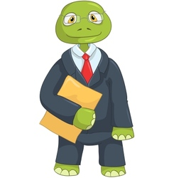 Funny Turtle Businessman vector