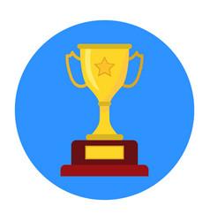 golden trophy winners cup vector image