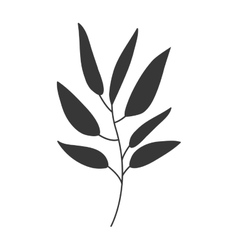 Gray scale big leaves olive vector