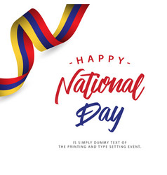Happy columbia national day template design vector