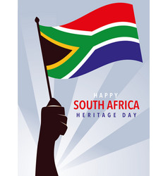 Happy south african heritage day hands holding vector