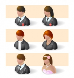 heads and shoulders vector image