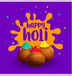 Indian happy holi celebration wishes festival vector