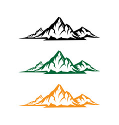 landscape nature or outdoor mountain silhouette vector image