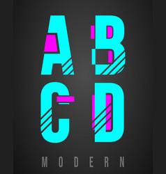 letter font modern design set letters a b c vector image