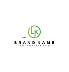 Letter lk logo design vector