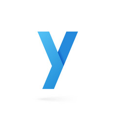 letter y logo alphabet on white background vector image