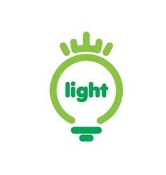 Logo light vector