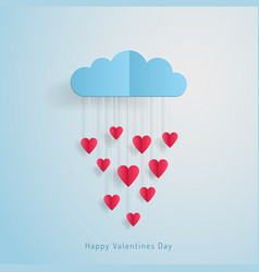 love invitation card valentines day balloon cloud vector image