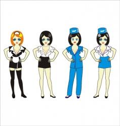 maid secretary waitress vector image