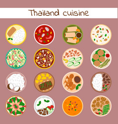 National traditional thai food thailand asian vector