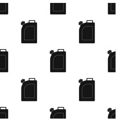 Oil jerrycan icon in black style isolated on white vector