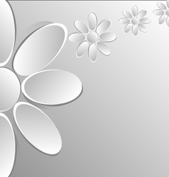 Paper flowers on white background vector